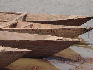 Fishing boats in Upper West Region, Ghana